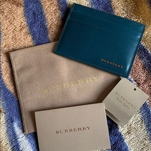 Burberry Teal Card Holder
